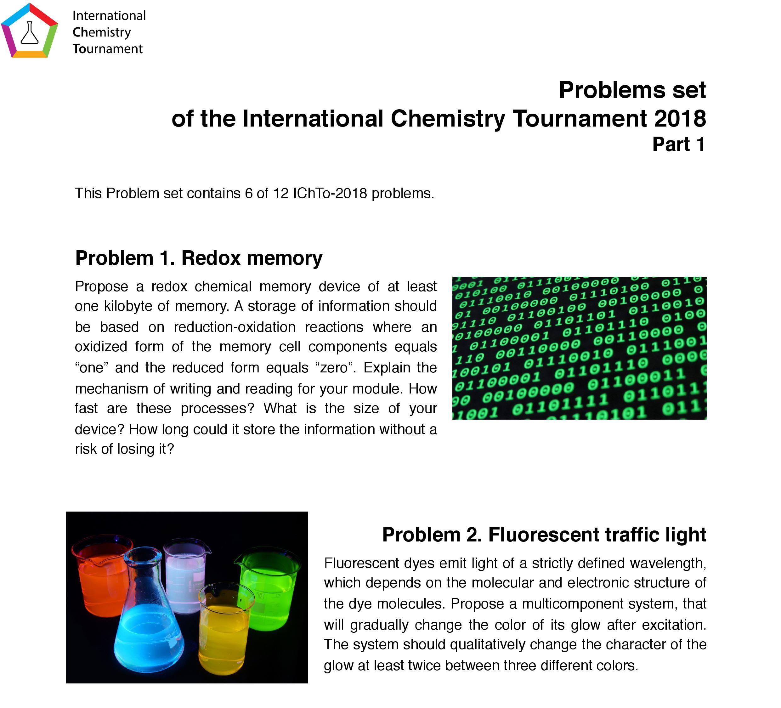 Publication Of The Six New Problems